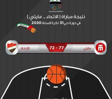 نتيجة مباراة نادي الاتحاد لكرة السلة